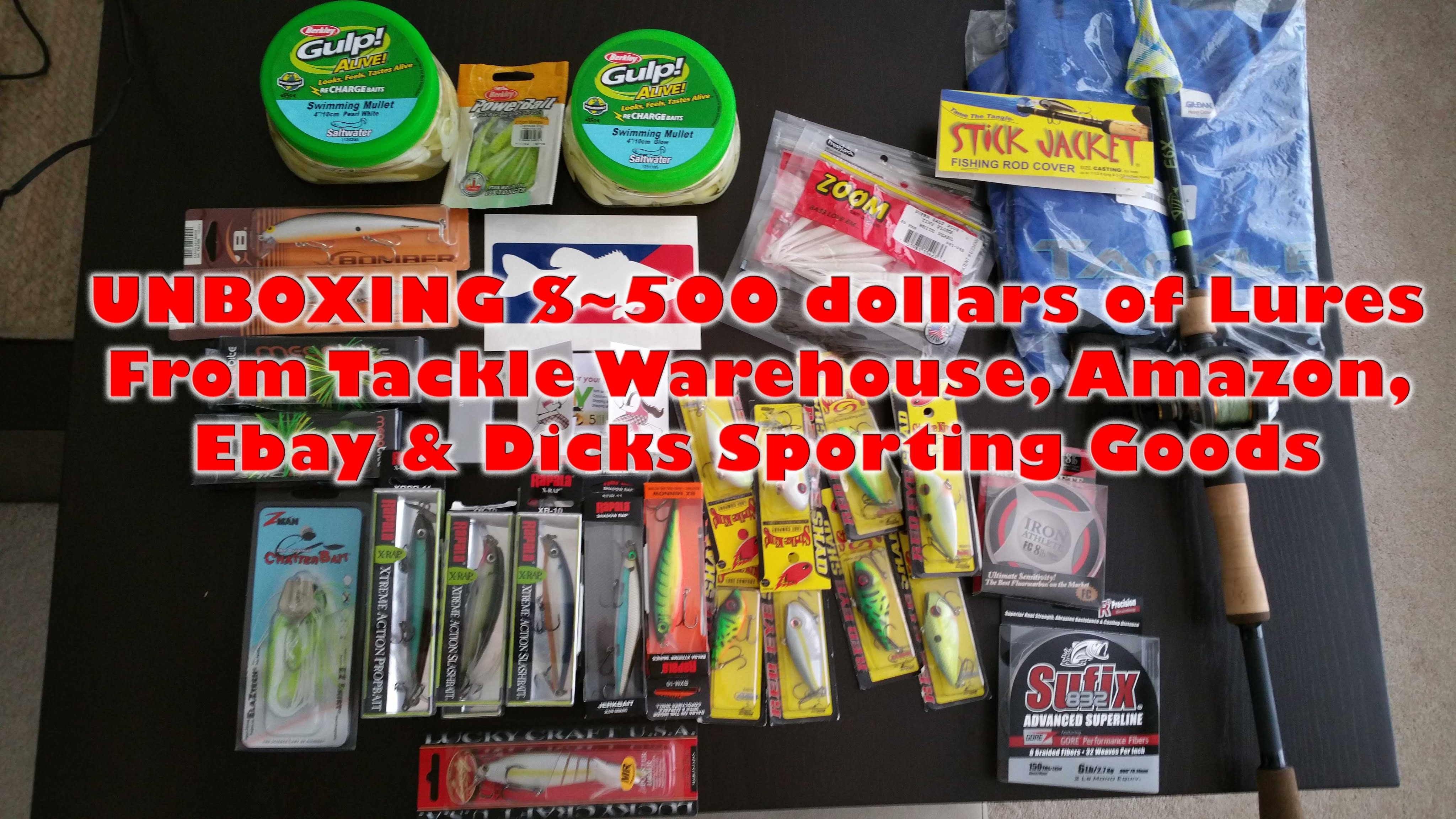 $500 Unboxing Tackle Warehouse & More Lures/Tackle for 2016 (Ebay